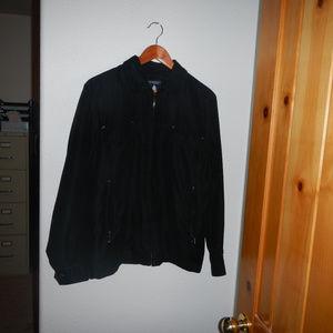 Roundtree & Yorke Suede Leather Like Bomber Jacket